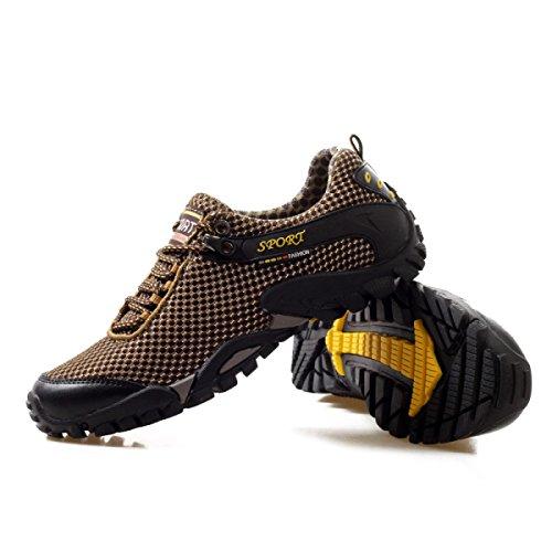 CHT Muchachos Estaciones Deportivas Al Aire Libre Zapatos Para Caminar De La Multicolor Múltiples Dimensiones Brown