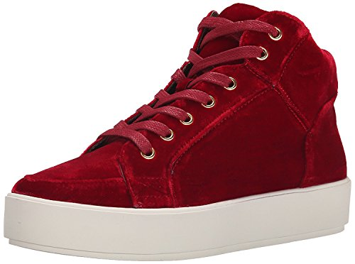 Nine West Women's Verona Fabric Fashion Sneaker, Red, 41 B(M) EU/8 B(M) UK