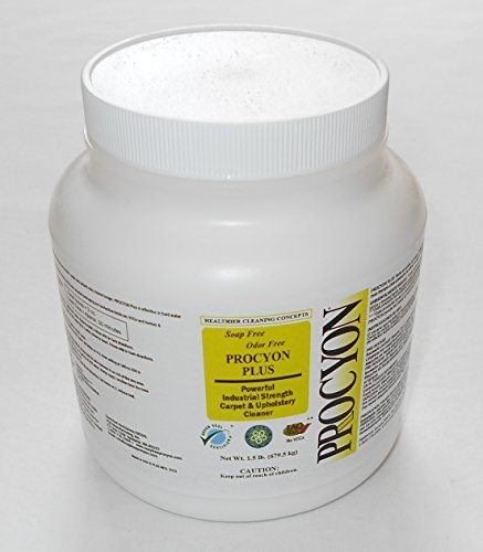 Procyon Plus Powder - Carpet Cleaning Economy Size - 1.5 lb - Nontoxic - Kid Friendly, Pet Friendly - Safer for carpet cleaning