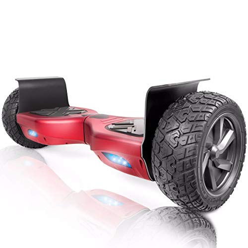 XtremepowerUS 8.5 Off Road Hoverboard w Bluetooth Speaker and LED Light Wine Red