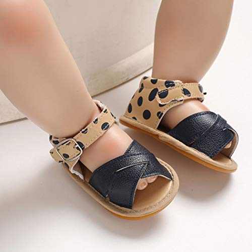 Baby Girl Sandals Anti-Slip Rubber Sole Summer First Walkers with Flower Newborn Shoes Infant Sandals Girls