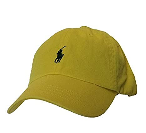 Image Unavailable. Image not available for. Color  Polo Ralph Lauren Men Women  Cap Cotton Twill Pony LogoYellow 47161b4f77df