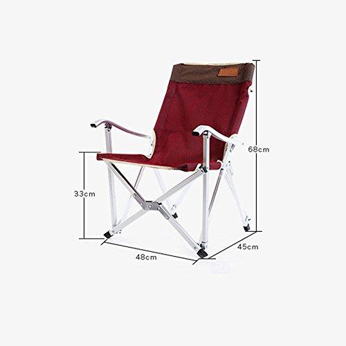 Chaise De Camping Pliante En Plein Air Pêche Lune