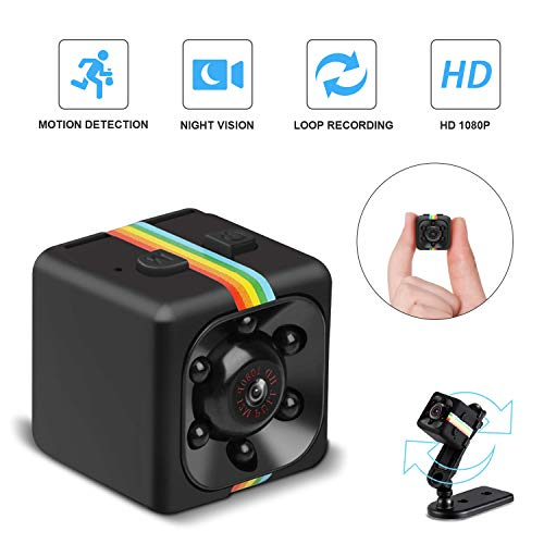 (Mini Cop Spy Cam Cop Camera As Seen On TV 1080P HD Hidden Camera Nanny Cam with Night Vision and Motion Detection Wireless Wearable Spy Body Camera Surveillance for Home Car Office Indoor and Outdoor)