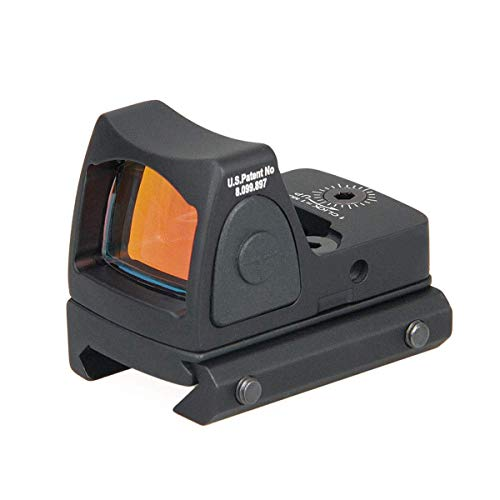 Red Dot Sight by ALZERO, RMR Type 3.25 MOA Adjustable Reflex Sight Pistol Scope 45mm Parts Set US(Black)