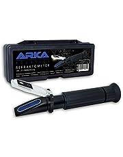 ARKA Aquatics refraktometr – miernik gęstości/kalibracja z wyrównaniem temperatury, podwójny wyświetlacz, do każdego akwarium z wodą morską
