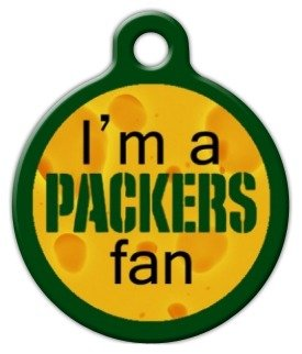 Packers Fan - Custom Pet ID Tag for Dogs and Cats - Dog Tag Art - LARGE SIZE by Dog Tag Art