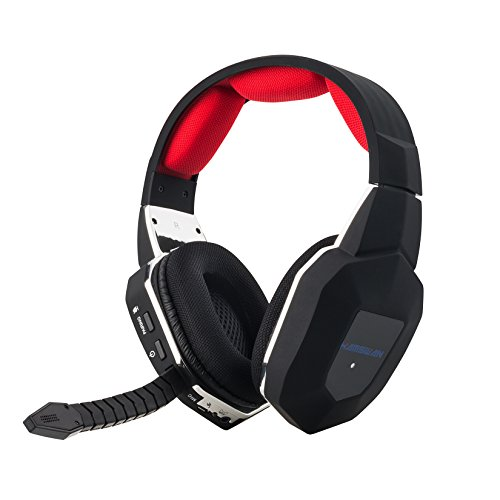 HAMSWAN Gaming Headset 2.4GHz Wireless Headphones with Detachable Mic and Rechargeable Battery for Xbox One, Xbox 360, PS3, PS4, PC, and TV