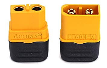 Finware Amass XT60H Upgraded Version XT60 Connectors with Covers Male Female Power Plug with Sheath for Lipo Battery RC Planes Cars