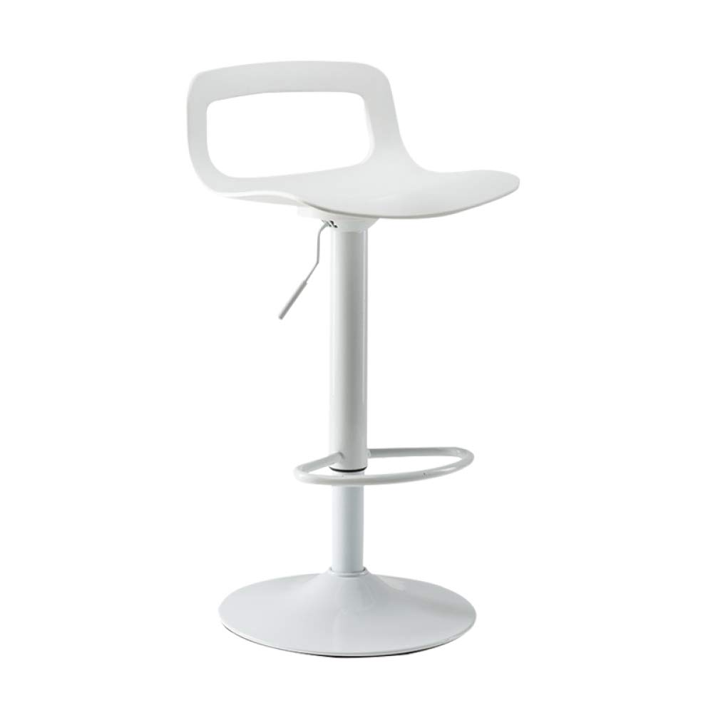 White 60 SSHHI Modern Adjustable Stool,redatable Backrest Bar Chair,Bar Counter High Stool Counter Chairs Fashion Simple Stools Safety