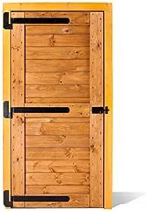 ESTRUCMADER - Puerta portón de Madera de una Hoja de 115x210cm Mod. Tarpán, Roble/Cerezo/Nogal/Natural: Amazon.es: Jardín