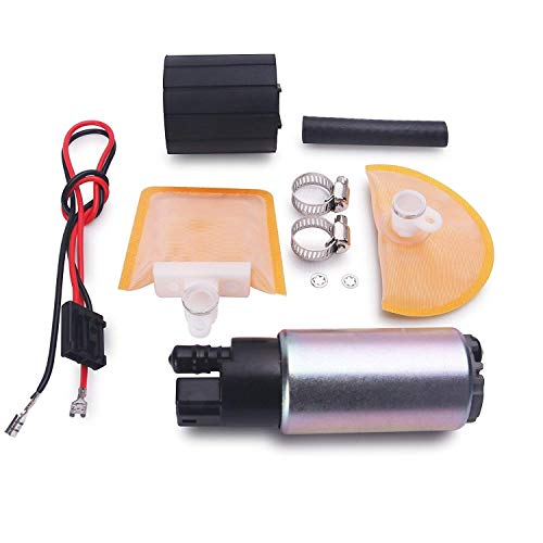 CUSTONEPARTS New Electric Intank Fuel Pump With Stainless Steel Clamps + Rubber Gasket + Rubber Hose Fit Toyota Lexus Pontiac Scion Chevy Honda Nissan Lexus ()