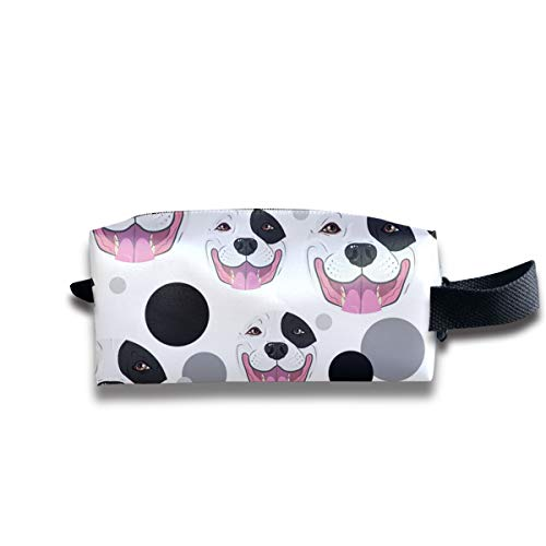 SHdYtrt Pitbull Face Toiletry Bag Multifunction Portable Wash Bag Cosmetic Organizer Pouch