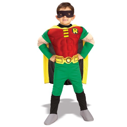 Deluxe Muscle Chest Robin Costume - Toddler (Robin Deluxe Costume)