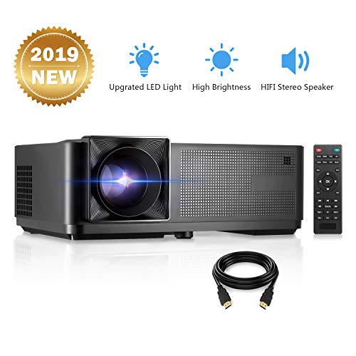 Projector, GBTIGER 4000 Lux LED Video Projector Full HD 1080P Supported Home Projector Compatiable with Fire TV Stick, PS4, HDMI, USB, VGA, AV for Movie Party and Game + HDMI Cable from GBTIGER