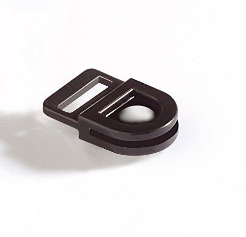 DURABLE 818801 - Card Fix, molla portabadge, fermo interno in gomma, 440x20 mm, nero, confezione da 50 pezzi