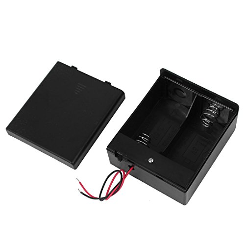 uxcell 2 x D Size Battery Holder Cable Connector Enclosed Box Switch Container 3V Output (Battery Cable Size compare prices)