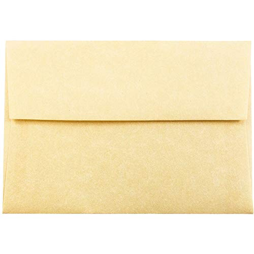 JAM PAPER 4Bar A1 Parchment Invitation Envelopes -, used for sale  Delivered anywhere in Canada