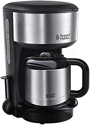 Russell Hobbs 20140-56 Oxford - Cafetera digital térmica con jarra de acero inoxidable, capacidad de 1,1 l, color negro: Amazon.es: Hogar