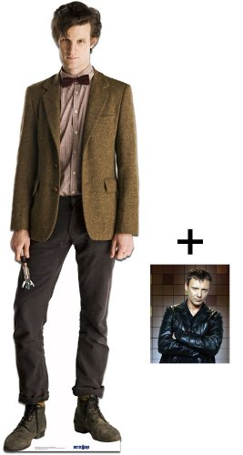 """*FAN PACK* - THE 11th DOCTOR (Matt Smith) *LIFESIZE* CARDBOARD CUTOUT / STANDEE / STANDUP - BBC Doctor Who / Dr Who / Dr. Who - INCLUDES 8x10"""" (25x20cm) STAR PHOTO - FAN PACK #130"""