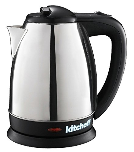 Kitchoff Black Automatic Stainless Steel Electric Kettle for Home & Office(Kl2)