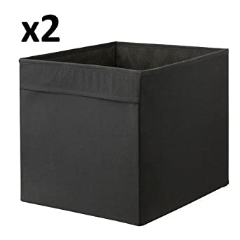 x2 ikea drona black storage box 33 x 38 x 33 cm for. Black Bedroom Furniture Sets. Home Design Ideas