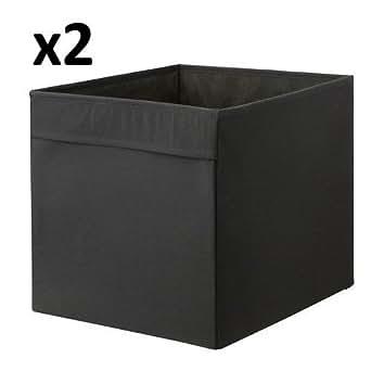 Lkea drona caja de almacenamiento negra 33 x 38 x 33 cm for Cajas almacenamiento ikea