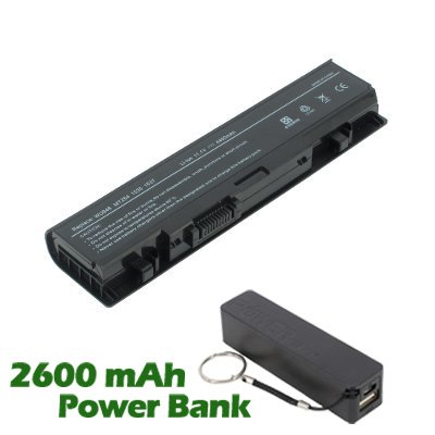 Battpit™ Laptop / Notebook Battery Replacement for Dell Studio 1555 (4400mAh / 49Wh) with 2600mAh Power Bank / External Battery for Smartphone.