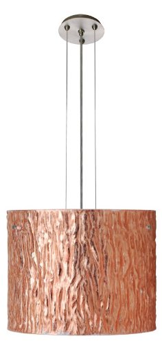 Tamburo 1 Light Drum Pendant Finish: Satin Nickel, Size / Glass Shade: 120