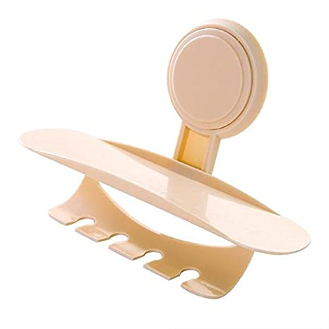 lussoliv Beige Color baño pared fuerte ventosa cepillo de dientes pasta de dientes Holder: Amazon.es: Hogar