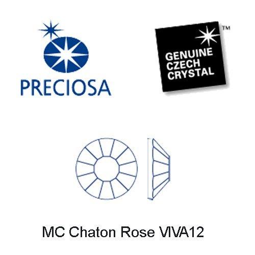 1440pcs ss20 (4.8mm) Clear Crystal, Preciosa Genuine Czech Crystals new VIVA12 MC Chaton Rose Flatbacks Article 438-11-612, 12-Faceted Viva Machine Cut Rhinestone Roses, 20ss