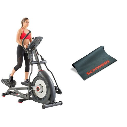Schwinn 470 Elliptical Machine and Mat Bundle
