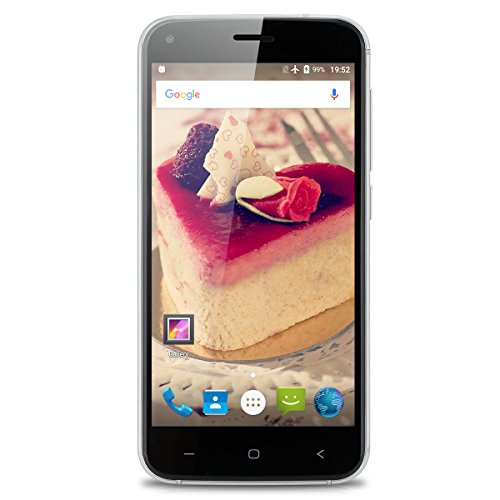 UMIDIGI London 3G Smartphone ohne Vertrag 5.0 Zoll 2.5D Arc Sharp IPS Screen mit Metallgehäuse, 1GB RAM + 8GB interner Speicher, Android 6.0 Quad-Core Prozessor, Dual SIM, 8.0MP+2MP Dual Kamera Schwarz