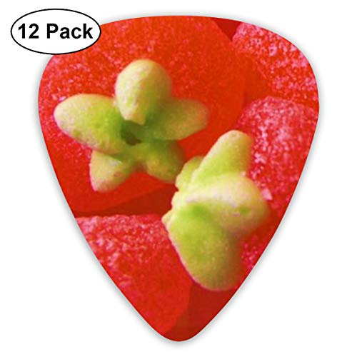 Red Strawberry Candy Suitable for Electric Guitars, Acoustic Guitars, Guitar Selection 12 Pieces. ()