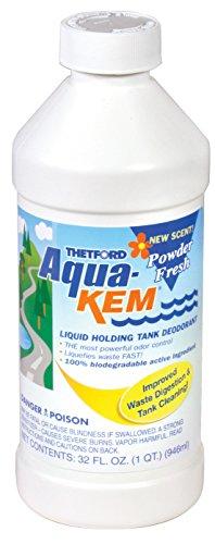 Aqua-Kem Powder Fresh RV holding tank treatment - deodorant / waste digester / detergent 32 oz - Thetford 36568