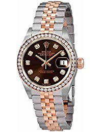 Lady Datejust Chocolate Diamond Dial Automatic Watch 279381CHDJ