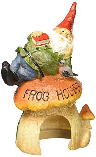 Design Toscano Garden Gnome Statue - Garden Gnome Frog House - Toad House - Fairy Garden - Gnome Village