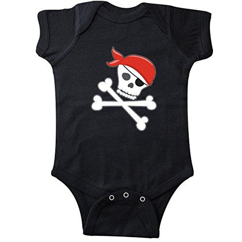inktastic - Pirate Skull and Crossbones Infant Creeper 12 Months Black -