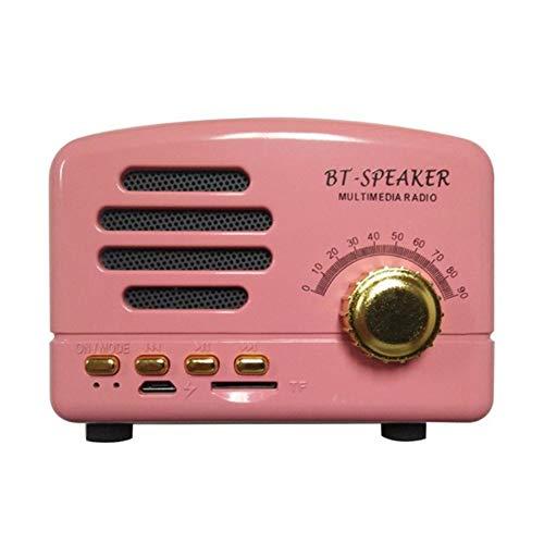 jtxqy Bluetooth Speaker,Raido Mini Speaker Radio Vintage Style Bluetooth V4.0 Support FM TF Card Wireless Mini Speaker…