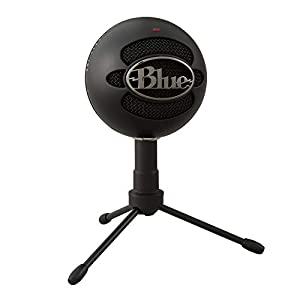 Blue Microphones Snowball iCE USB Mic for Recording and Streaming on PC and Mac, Cardioid Condenser Capsule, Adjustable Stand, Plug and Play – Black
