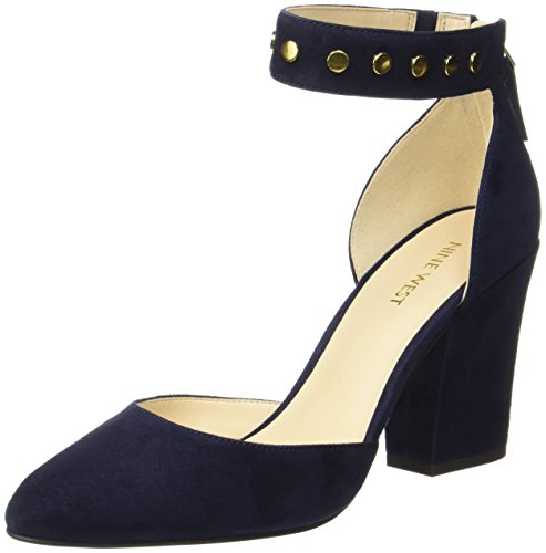 Nine West Damen Sharmain Riemchenpumps Blau (French Navy)