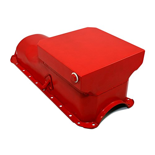 Assault Racing Products A9729 Big Block Chevy Orange Drag Style 6qt Oil Pan BBC 396 427 454 ()