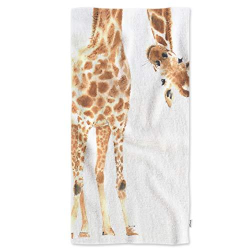 Funny Giraffe Hand Towels