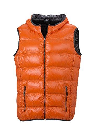 Men's Ultra Dark orange carbon Vest Casual Stile Cappuccio Leggero Con Uomo Gilé Down POwvx5qc0q