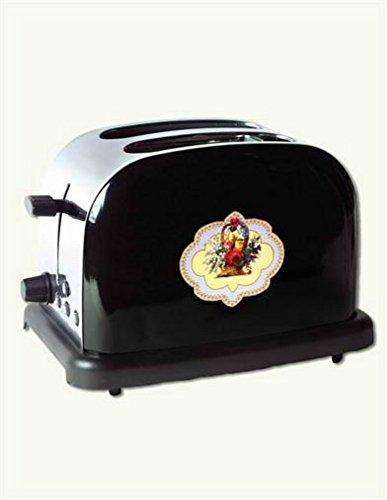 Victorian Nostalgic Toaster Black Floral 2