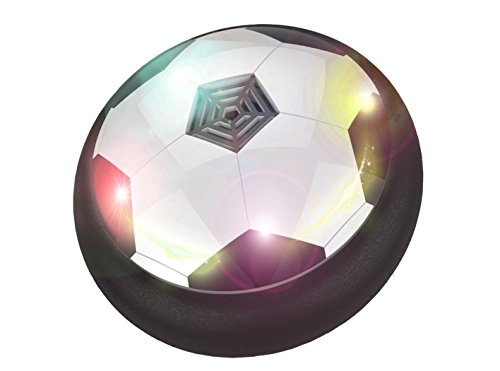 JING GREAT Kids Toys the Amazing Hover Ball with Powerful LED Light 3-12 Year Boys Girls Sport Children Toys Training Football for Indoor or Outdoor with Parents Game(Black)
