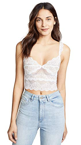 Only Hearts Women's So Fine Lace Cropped Camisole, White, Large