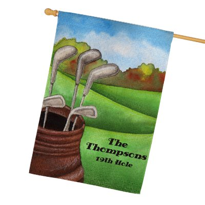 Flag Link - GiftsForYouNow Personalized Golf House Flag, 29