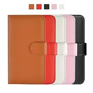 MOFY- cubierta de cuero patr-n plano angibabe con ranura de la tarjeta para el iphone 6 (colores surtidos) , Rosa