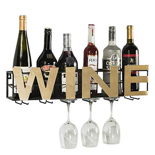 Wine Rack Wrought Iron Wine Glass Rack Creative Bar Home Wall Wine Decoration Rack 60.3 10.5 11cm.